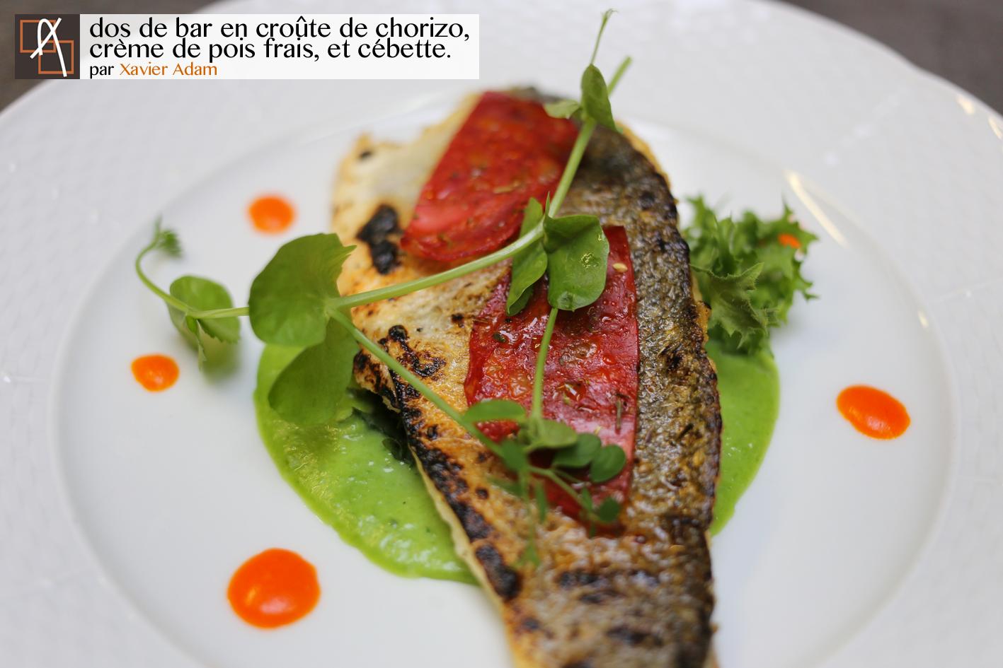La plat, présenté par Xavier Adam dans son restaurant l'Atelier Gourmand (Frameries).